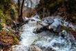 River of Trooditissa (Diplos potamos) which forms Chantara waterfall. Limassol District, Cyprus