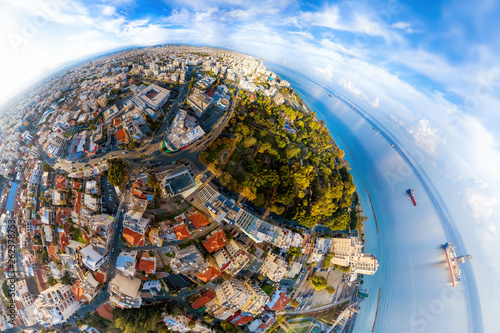 Spherical view of Limassol downtown. Cyprus © kirill_makarov