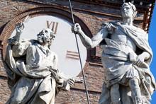 "Постер, картина, фотообои "" basilica di santa croce in gerusalemme,roma,italia."""