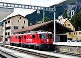 Bahnhof Samedan im Engadin, Lokomotive