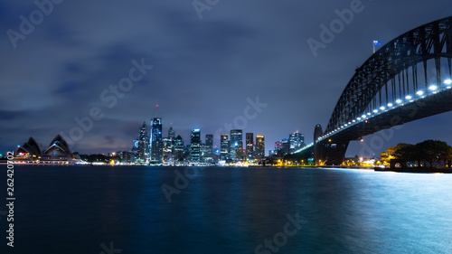 fototapeta na ścianę sydney skyline at night