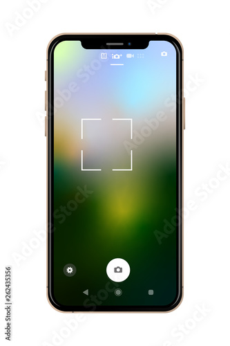Smartphone - Bildschirm Foto UI Vertikal Konzept
