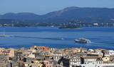 Kerkyra Corfu town Greece summer season
