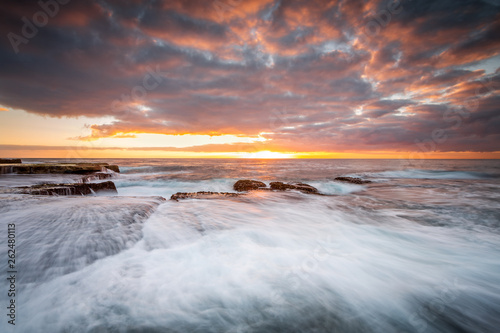 Rock shelf flows and waterfalls Maroubra
