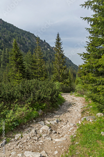 Landscape from hiking trail for Malyovitsa peak, Rila Mountain, Bulgaria