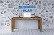 canvas print picture - Business Plan Konzept mit Schreibtisch