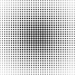 Background of black dots on the white