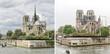 Quadro Cathédrale Notre-Dame de Paris avant/après