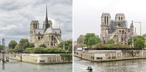 Cathédrale Notre-Dame de Paris avant/après - 262502598