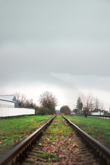railway track leaving into the distance