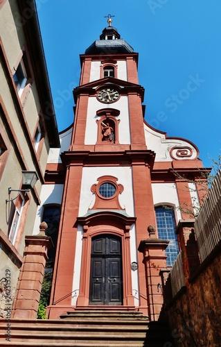 canvas print picture Pfarrkirche Retzbach, Unterfranken