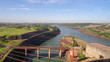 Quadro Hydroelectric station Itaipu between Paraguay and Brazil