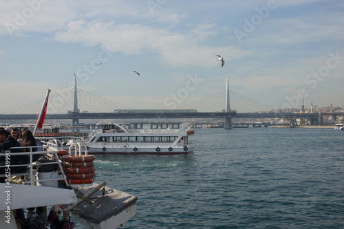 Water transport in Istanbul, March 2018. Turkey.