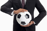 Businessmen and football