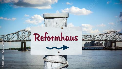 canvas print picture Schild 387 - Reformhaus