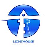 Leuchtturm blau - logo design