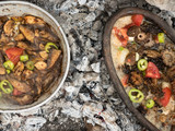 cook mushroom food in nature