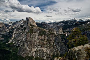 Half Dome, Vernal and Nevada Falls in Yosemite National Park