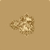 Gold fractal background and shiny texture for design,  bright.