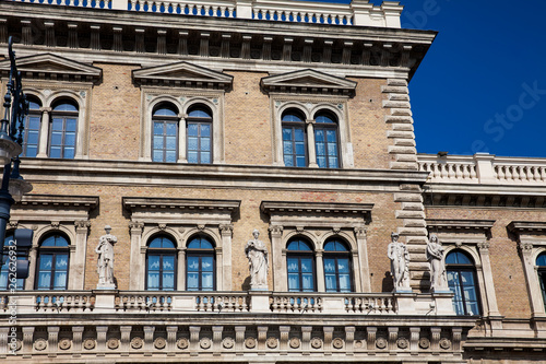 fototapeta na ścianę Facade of the building of the Corvinus University of Budapest