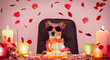 valentines happy birthday dog