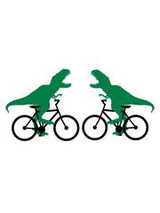 kampf duell tyrannus saurus rex sport fahrrad t-rex dinosaurier dino saurier gefährlich brüllen lustig fahren sport bike drahtesel gesund clipart design mountainbike herrenfahrrad logo