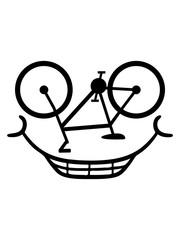 comic fahrrad gesicht cartoon lustig fahren sport bike drahtesel gesund clipart design mountainbike herrenfahrrad logo