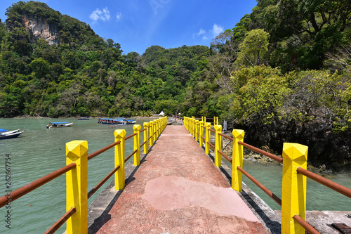 Long pier at Pulau Dayang Bunting, Langkawi Island Malaysia - 262667754
