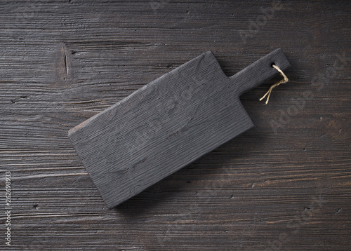 black wood cutting board - 262698933