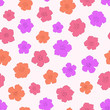 Hibiscus Seamless pattern. Simple hibiscus flower design. Vector illustration background for interior, fashion, textile, surface, web, home decor and graphic design. - 262699700