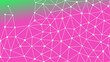 Abstractly connected points on colorful background, technology abstract background. Technology Concept, LowPoly, Polygons, Triangles, Network, Social Network, IOT, Internet