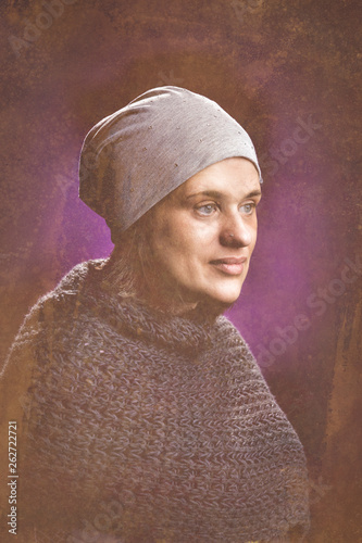 canvas print picture Frauenportrait