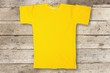 Quadro Yellow  t-shirt isolated on  background
