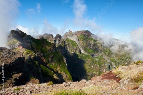 Landscape of Madeira island mountains