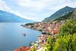 canvas print picture - wunderschöner Urlaubsort Limone sul Garda am Gardasee