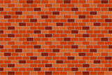 Red brick wall. Seamless texture. Vector illustration.