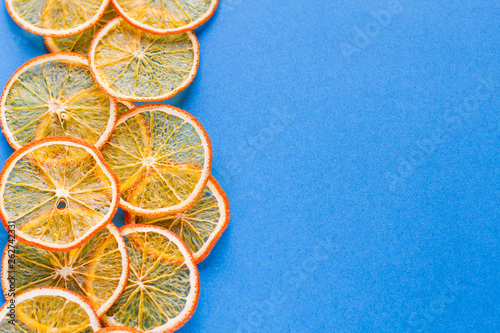 canvas print picture fruit background homemade organic orange chips