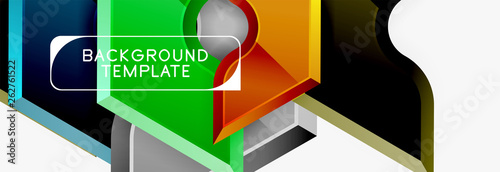 Modern geometric shapes abstract background or logo element. Dynamic color design - 262761522