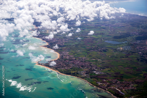 canvas print picture Islands of ré and Oléron from aerial view