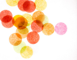 Many colorful circles on a white background. Wallpaper