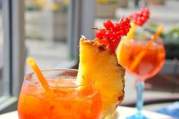orange cocktail on the beach spritz