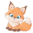 Cute cartoon fox - 262802731