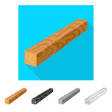 Vector illustration of timber and piece logo. Set of timber and section  stock vector illustration.