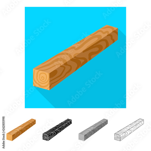 Vector illustration of timber and piece logo. Set of timber and section  stock vector illustration. - 262805998