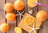 Process of fresh orange juice