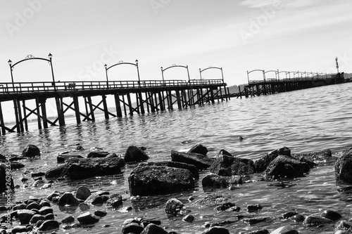 Rocks and Pier  © @altonphoto