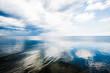 Quadro A view of the Baltic sea against cloudy blue sky, Latvia