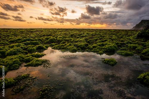 powerful nature. amazing sunset on beautiful tropical Bali beach