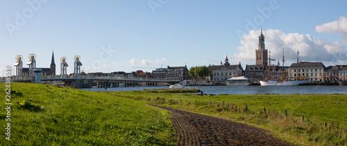 City of Kampen Overijssel Netherlands. River IJssel Panorama - 262838558