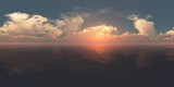 panorama Sea and sky, HDRI, environment map , Round panorama, spherical panorama, equidistant projection, 360 high resolution panorama